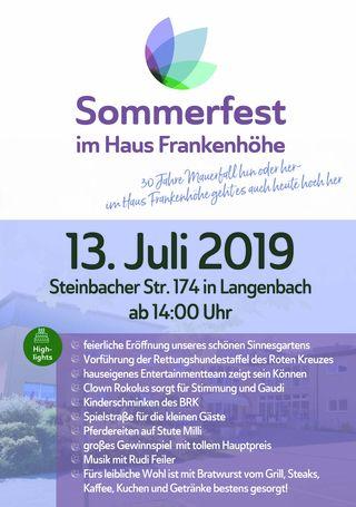 9cac063255 Einladung zum Sommerfest im Seniorenheim Haus Frankenhöhe